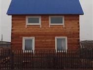 Иркутск: Продам дом под вывоз с, Манзурка Продам дом под вывоз с. Манзурка Качугский тракт 6 на 4. 48 кв. м жил. + веранда 10кв. м в 2 этажа, 2-х эт. год постр
