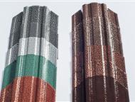 Металлический Евроштакетник, Штакетник металлический изготовлен из оцинкованной стали толщиной 0, 50 мм,   планки штакетника профилированы методом хол, Прокопьевск - Строительные материалы