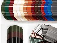 Прокопьевск: Металлический Евроштакетник, Штакетник металлический изготовлен из оцинкованной стали толщиной 0, 50 мм,   планки штакетника профилированы методом хол